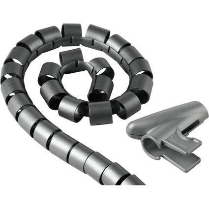 hama Kabelbündler, 1,5 m, Durchmesser: 30 mm, silber