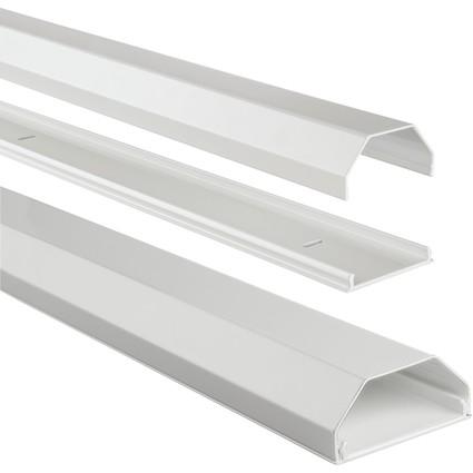 hama Kabelbrücke, Aluminium, eckig, Länge: 1,10 m, weiß