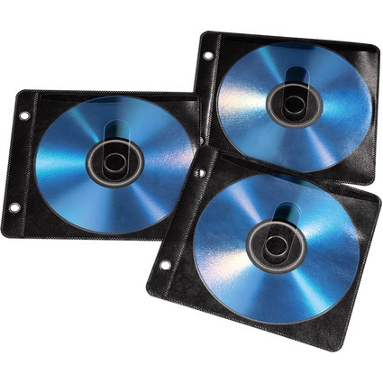 hama CD-/DVD-Leerhülle, Slim Case, transparent/schwarz