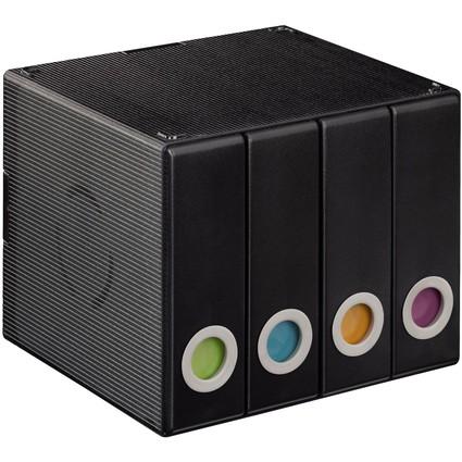 hama CD-/DVD-Album-Box 96, für 96 CD's, transparent-schwarz