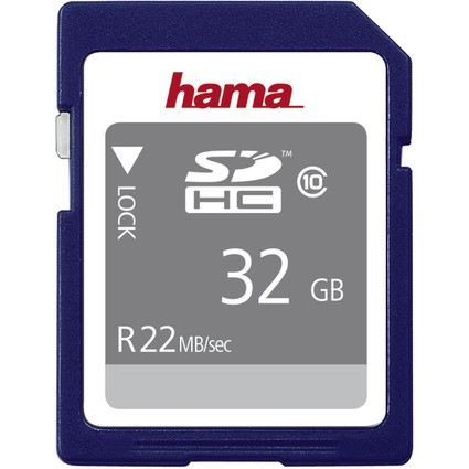 hama Speicherkarte SecureDigital High Capacity Gold, 32 GB