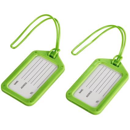 hama Gepäckanhänger, 2er-Set, grün