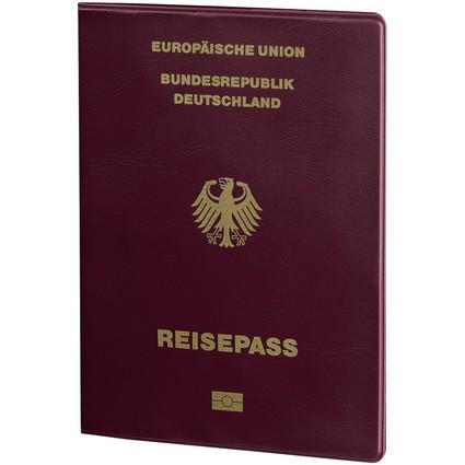 "hama RFID-Schutzhülle ""Berlin"" für Reisepass, bordeaux"