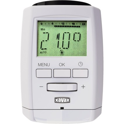 xavax Funk-Heizkörperregler, Bluetooth, Farbe: weiß
