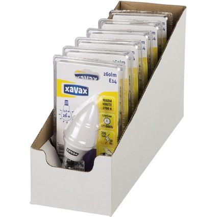 xavax LED-Lampe, Kerzen-Form, 3,8 Watt, E14