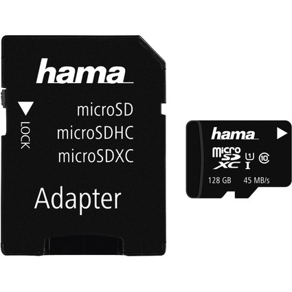hama Speicherkarte Micro SecureDigital XC, 128 GB