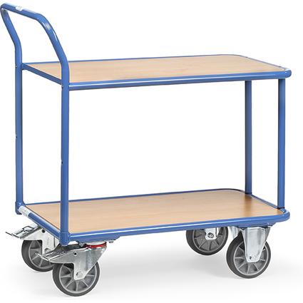 fetra Tischwagen, 2 Etagen, Schiebebügel,(B)1.000 x (H)700mm