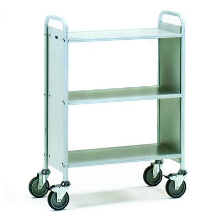 fetra Bürowagen, (B)810 x (T)385 mm, 2 Fächer, 3 Fachböden