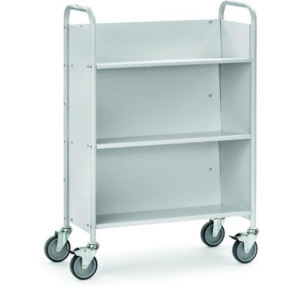 fetra Bürowagen, (B)855 x (T)400 mm, geneigte Fachböden