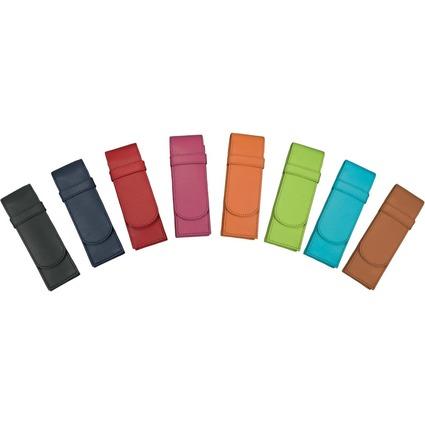 Alassio Schreibgeräte-Etui, für 2 Schreibgeräte, schwarz