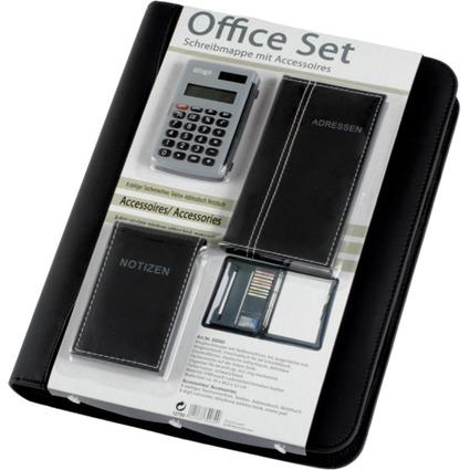 "Alassio Ringbuchmappe ""Office Set"", schwarz, inkl. Büroset"