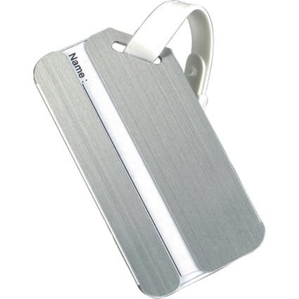 JSA Gepäckanhänger, aus Aluminium, silber