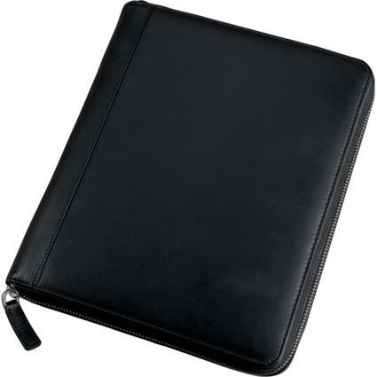 Alassio iPad Organizer, Echtleder, inkl. Block, schwarz