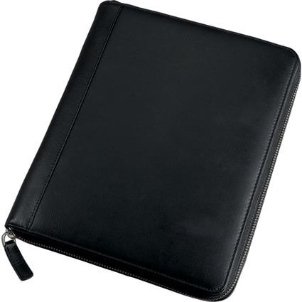 Alassio iPad Organizer, Lederimitat, inkl. Block, schwarz
