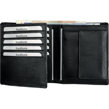 Alassio Kombi-Geldbörse, Leder, schwarz