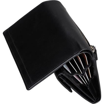 Alassio Damen-Geldbörse, aus Nappaleder, schwarz