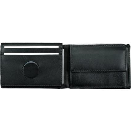 Alassio Mini-Geldbörse, Nappa-Leder, schwarz