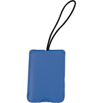 JSA Gepäckanhänger, aus Lederimitat, blau