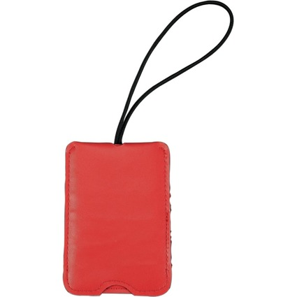 JSA Gepäckanhänger, aus Lederimitat, rot