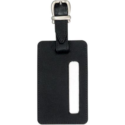 JSA Gepäckanhänger, aus Leder, schwarz