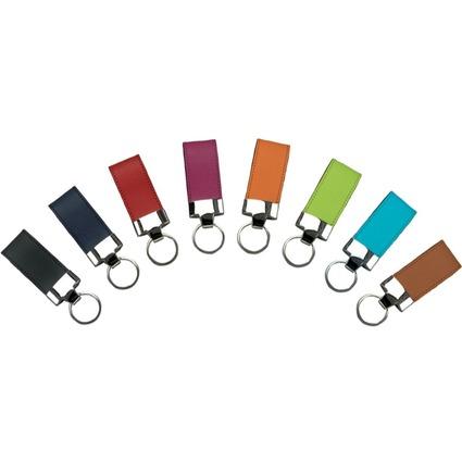 Alassio Schlüsselanhänger, aus Leder, schwarz