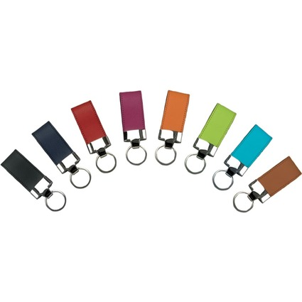Alassio Schlüsselanhänger, aus Leder, hellgrün