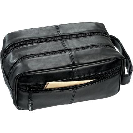Alassio Kulturtasche, aus Soft-Nappaleder, schwarz