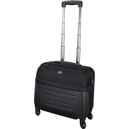 JSA Reisetrolley Laptop-Trolley, schwarz