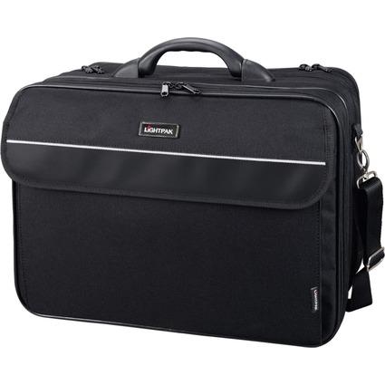 """LiGHTPAK Notebook-Tasche """"CORNICHE"""", aus Nylon, schwarz"""