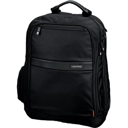 """LiGHTPAK Notebook-Rucksack """"ECHO"""", aus Nylon, schwarz"""