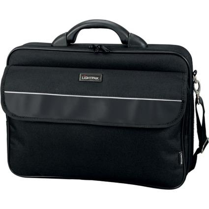 """LiGHTPAK Notebook-Tasche """"ELITE"""", Größe L, Nylon, schwarz"""