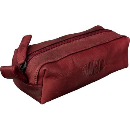 PRIDE&SOUL Schlamper-Rolle, aus Leder, rot
