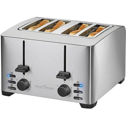 PROFI COOK 4-Scheiben-Toaster PC-TA 1073, edelstahl