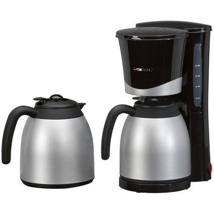 CLATRONIC Thermo-Kaffeemaschine KA 3328, schwarz/Edelstahl
