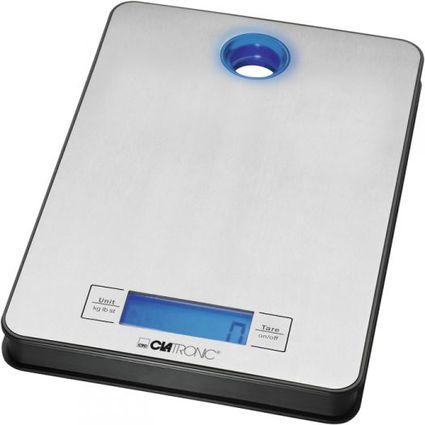 CLATRONIC Küchenwaage KW 3412, Tragkraft, 5 kg, edelsthal