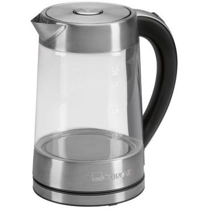 CLATRONIC Wasserkocher WK 3501 G, Glas/Edelstahl