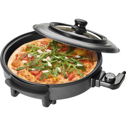 CLATRONIC Pizza-/Partypfanne PP 3402, rund, schwarz