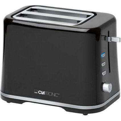 CLATRONIC 2-Scheiben Toaster TA 3554, schwarz / silber