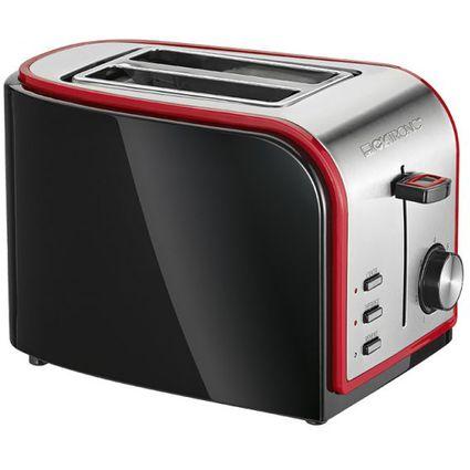 CLATRONIC 2-Scheiben Toaster TA 3557, schwarz/rot