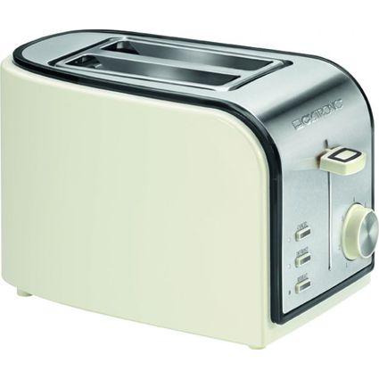 CLATRONIC 2-Scheiben Toaster TA 3557, creme/schwarz