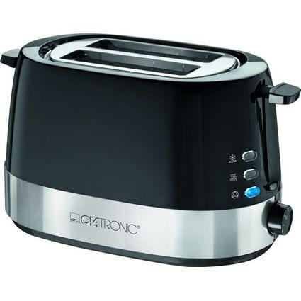 CLATRONIC 2-Scheiben Toaster TA 3574, schwarz / edelstahl