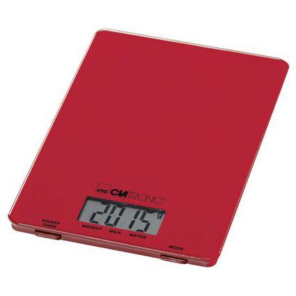 CLATRONIC Küchenwaage KW 3626, Tragkraft, 5 kg, rot