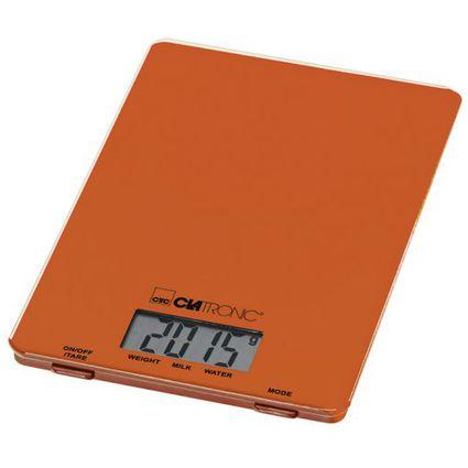 CLATRONIC Küchenwaage KW 3626, Tragkraft, 5 kg, orange