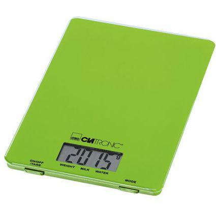 CLATRONIC Küchenwaage KW 3626, Tragkraft, 5 kg, grün
