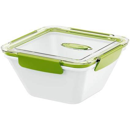 emsa Mikrowellendose BENTO BOX, 1,50 Liter, grau/grün