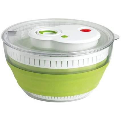 emsa Falt-Salatschleuder TURBOLINE, 4,5l, transparent / grün