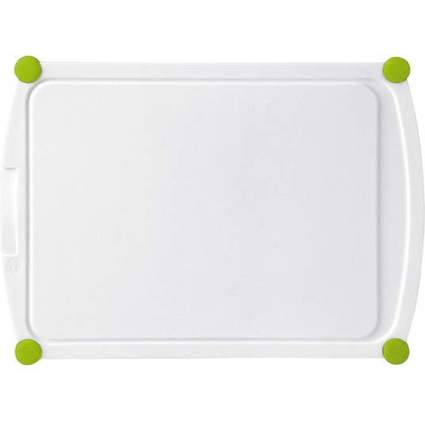 emsa Schneidebrett PERFECT CUT, 300 x 220 mm, weiß/grün