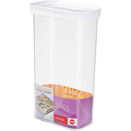 emsa Trockenvorratsdose OPTIMA, 2,8 Liter, transparent/weiß