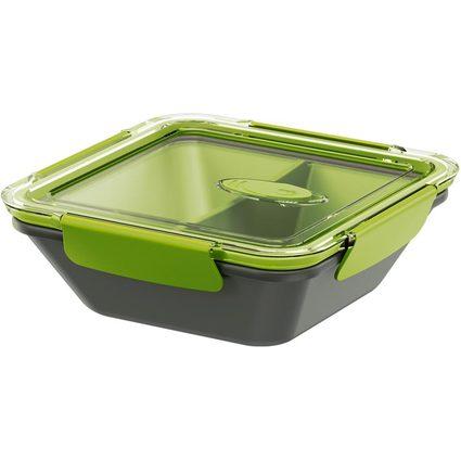 emsa Mikrowellendose BENTO BOX, 0,90 Liter, grau/grün