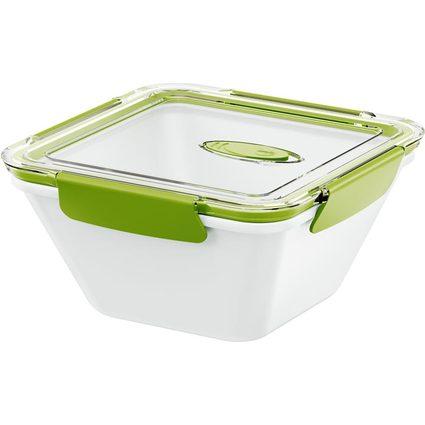 emsa Mikrowellendose BENTO BOX, 1,50 Liter, weiß/grün